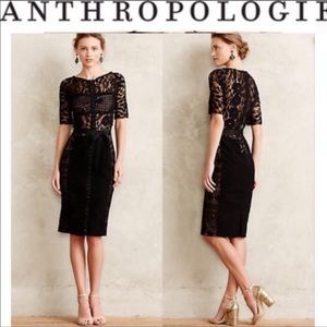 Anthropologie Byron Lars carissam sheath dress 10
